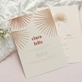 Boho Hochzeitseinladungen Palmengravur, Böhmisch exotisch pas cher