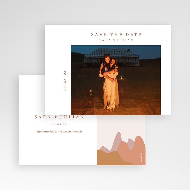 Save The Date Karten Hochzeit Blick aus dem Riad, Ockerdünen, Foto pas cher