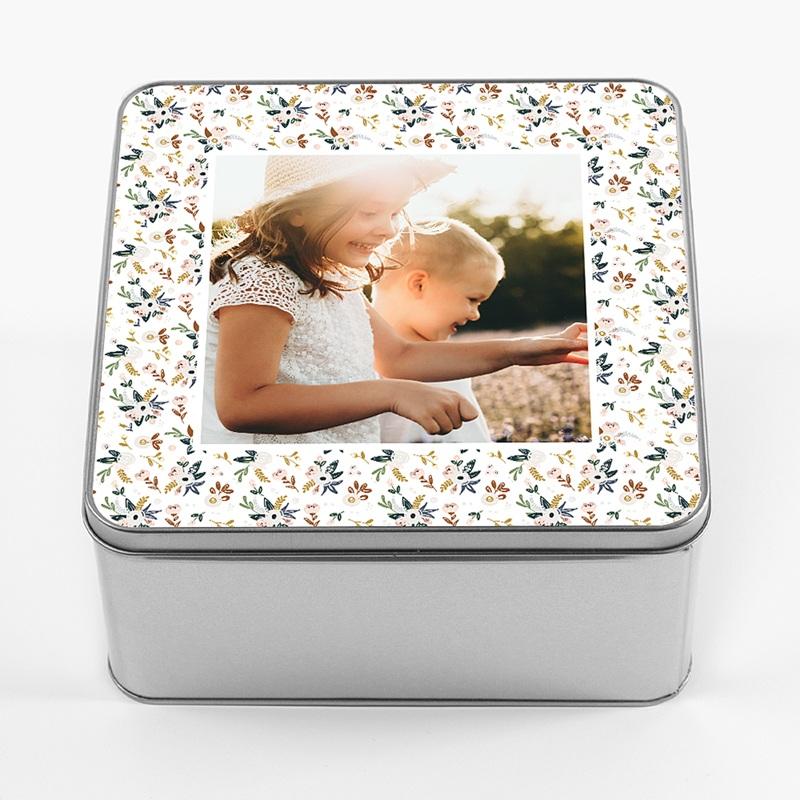 Personalisierte Fotodose Erinnerungen Geburt, 20.2 x 20.2 cm pas cher