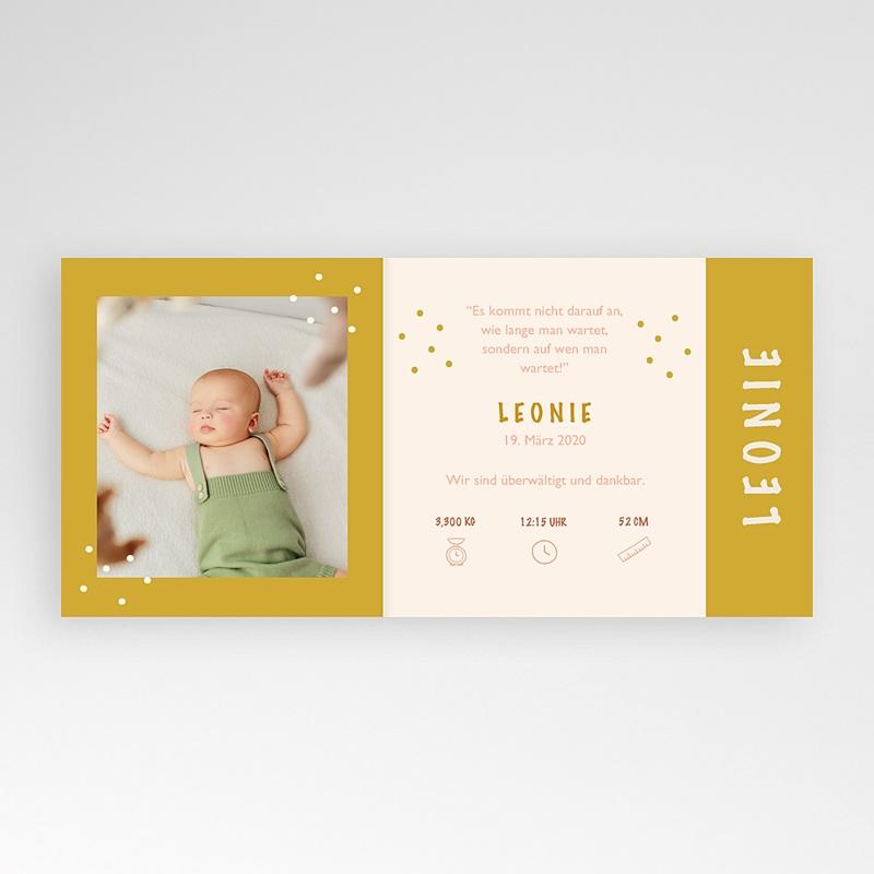 Gelb Geburtskarten Rosa, Sonne, überstehende Klappkarte pas cher