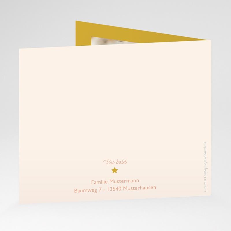 Gelb Geburtskarten Rosa, Sonne, überstehende Klappkarte gratuit