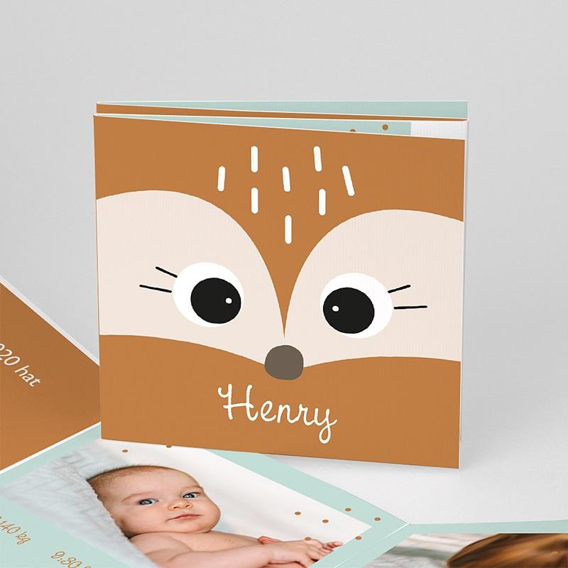 Geburtskarten mit Tieren Fuchs und Co., format Leporello