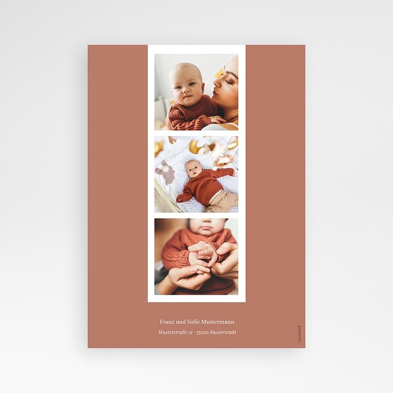 Geburtskarten für Mädchen Winterpoesie, Sternzeichen, Terracotta pas cher