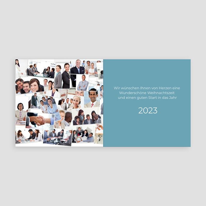 Geschäftliche Weihnachtskarten Gute Zusammenarbeit pas cher