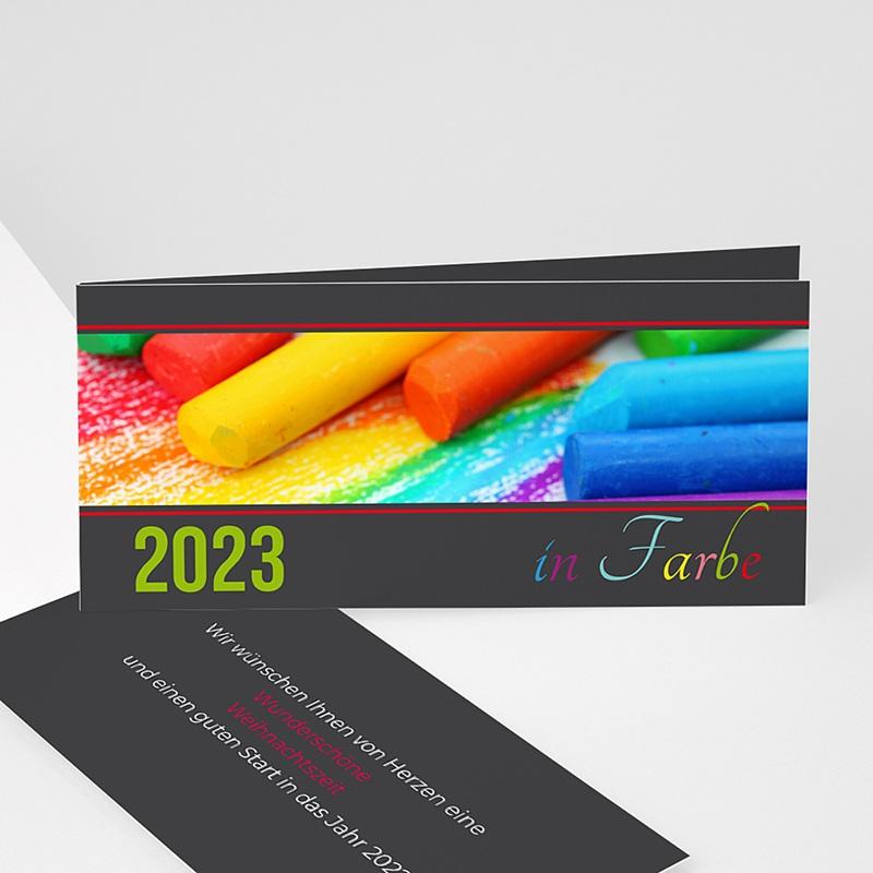 Geschäftliche Weihnachtskarten In Farbe