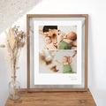 Plakate 3 Fotos, Name und Geburtsdatum, 30 X 40 cm