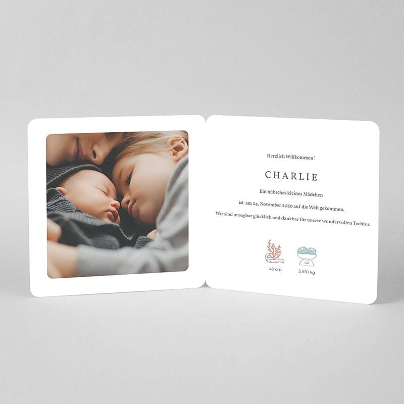 Geburtskarten Geburtskarte Mädchen, Big love, rundes Etikett pas cher