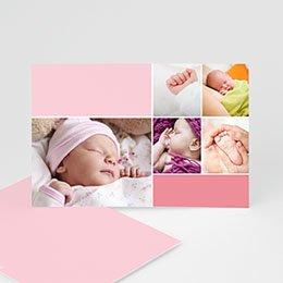 Geburtskarten für Mädchen Rosatöne