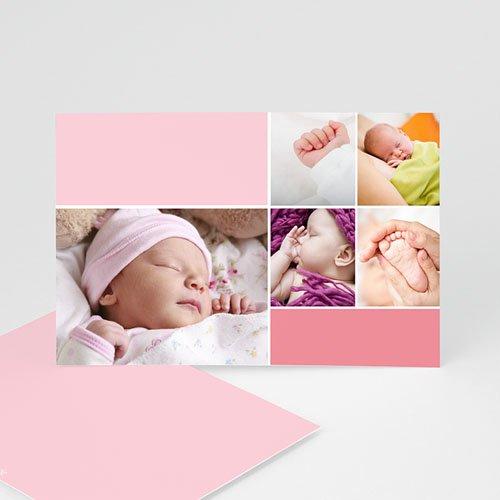 Geburtskarten für Mädchen - Rosatöne 9296