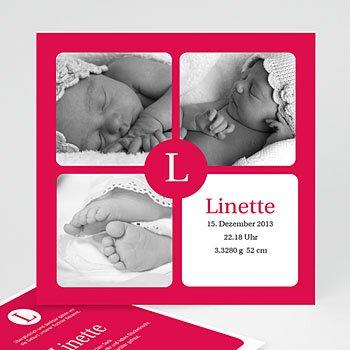 Geburtskarten für Mädchen - Geburtskarte Linette - 1