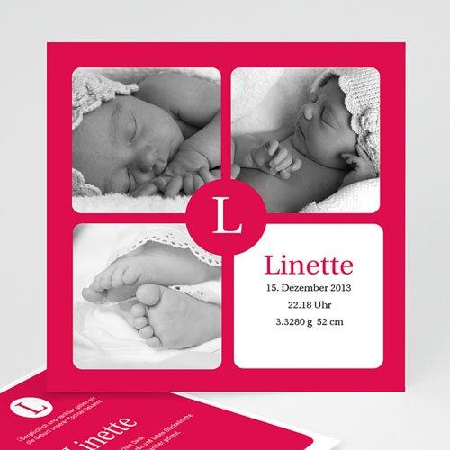 Geburtskarten für Mädchen - Linette 9300