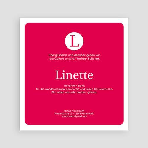 Geburtskarten für Mädchen - Linette 9301 thumb
