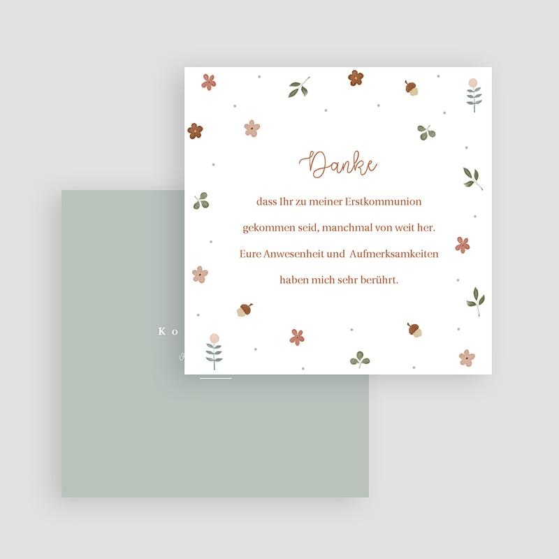 Dankeskarten Kommunion Mädchen Natur Allerlei, 10 x 10 cm gratuit