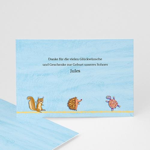 Dankeskarten Geburt Jungen - Tierfreunde 9304