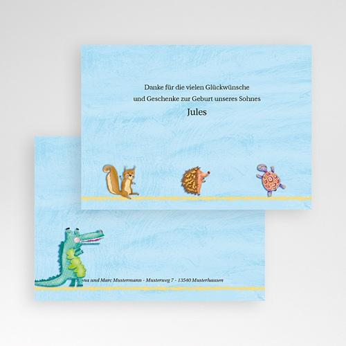 Dankeskarten Geburt Jungen - Tierfreunde 9305 preview