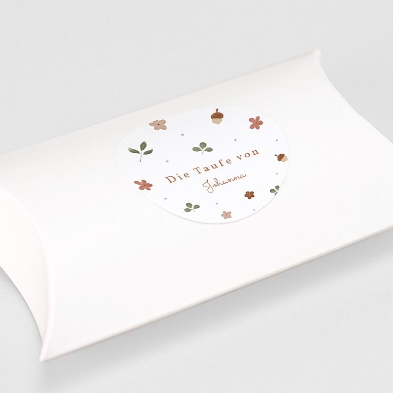 Aufkleber Taufe Herbstnatur Allerlei, Aufkleber Ø 4,5 cm gratuit