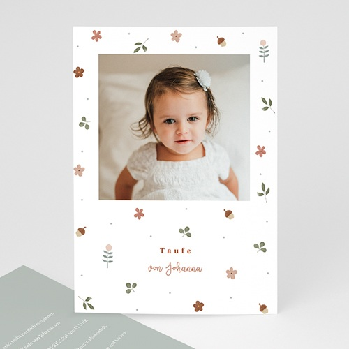 Einladungskarten Taufe  Herbstnatur Allerlei, Foto, 12 x 16.7 cm