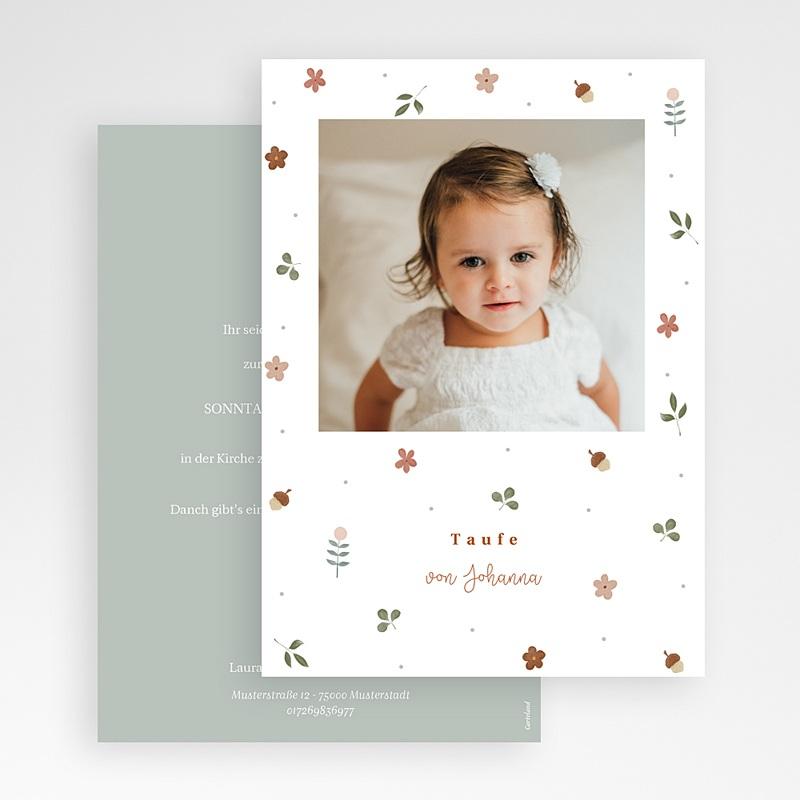 Einladungskarten Taufe  Herbstnatur Allerlei, Foto, 12 x 16.7 cm gratuit