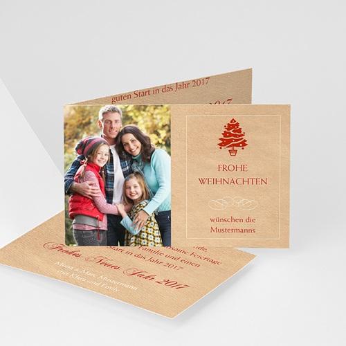 Weihnachtskarten - Weihnachtskarte Baum 9322 test