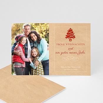 Weihnachtskarten - Weihnachtskarte Baum - 1