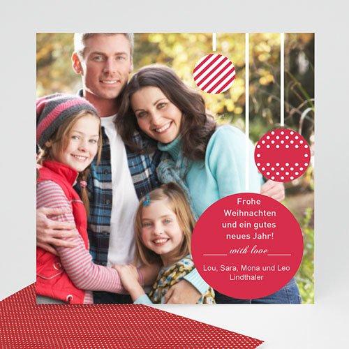 Weihnachtskarten Lametta