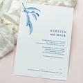 Vintage Hochzeitseinladungen Botanische Gravur, blaue Zitronen Vintage, Recto-Verso gratuit