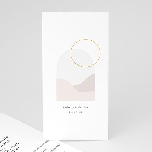 Romantische Hochzeitseinladungen Perfekte Einheit, nude chic, 10 x 21 cm