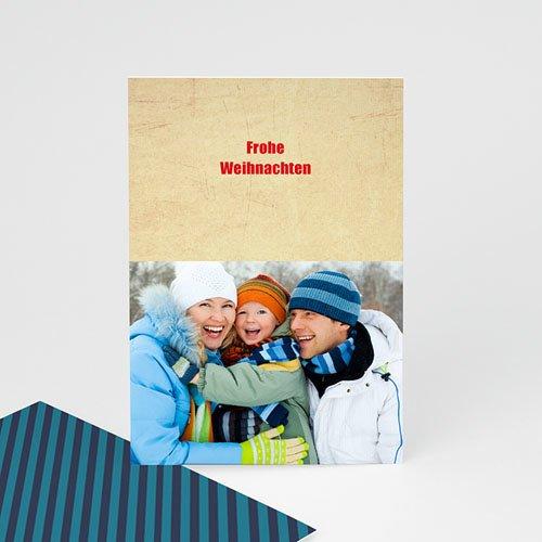 Weihnachtskarten Blauton