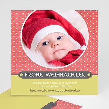 Weihnachtskarten - Weihnachtskarte Punkte - 1