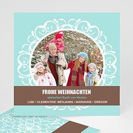 Weihnachtskarte Schneeflocken - 1