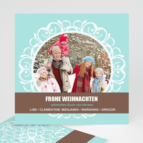 Weihnachtskarten - Weihnachtskarte Schneeflocken 9370