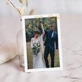 Dankeskarten Hochzeit mit Foto Ginkgo Biloba, Goldblätter & Foto