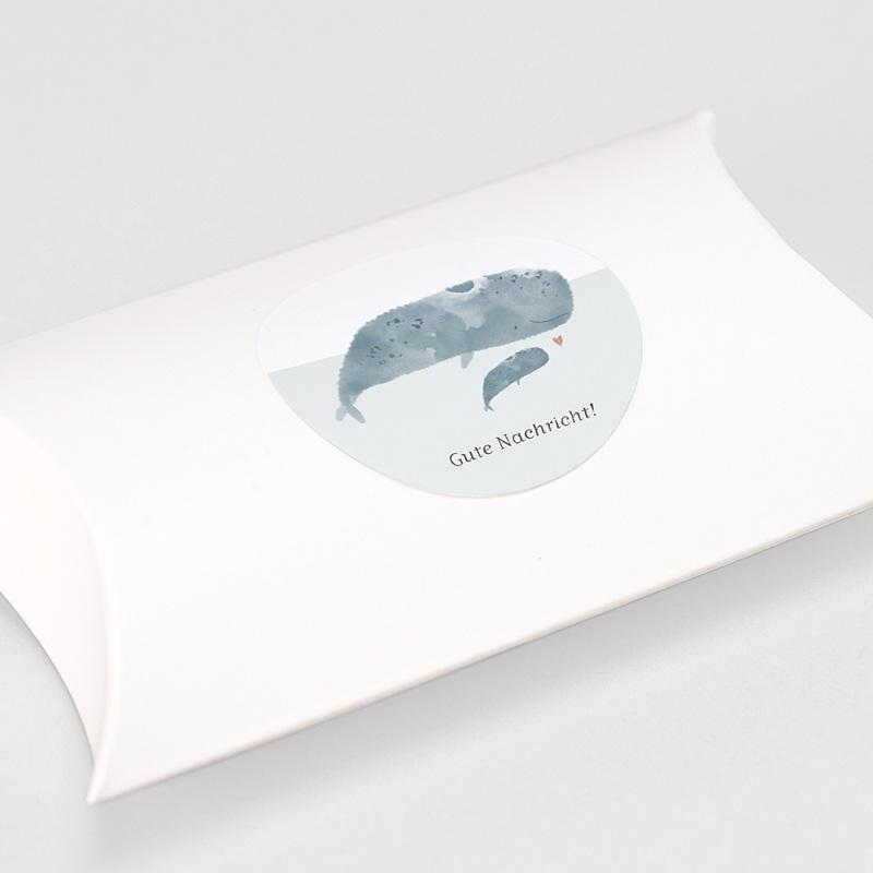 Aufkleber Geburt Tanz der Wale, Aufkleber für Briefumschlag, Ø 4.5 cm gratuit