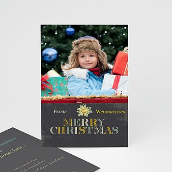 Weihnachtskarten - Weihnachtskarte Frohes Fest - 1