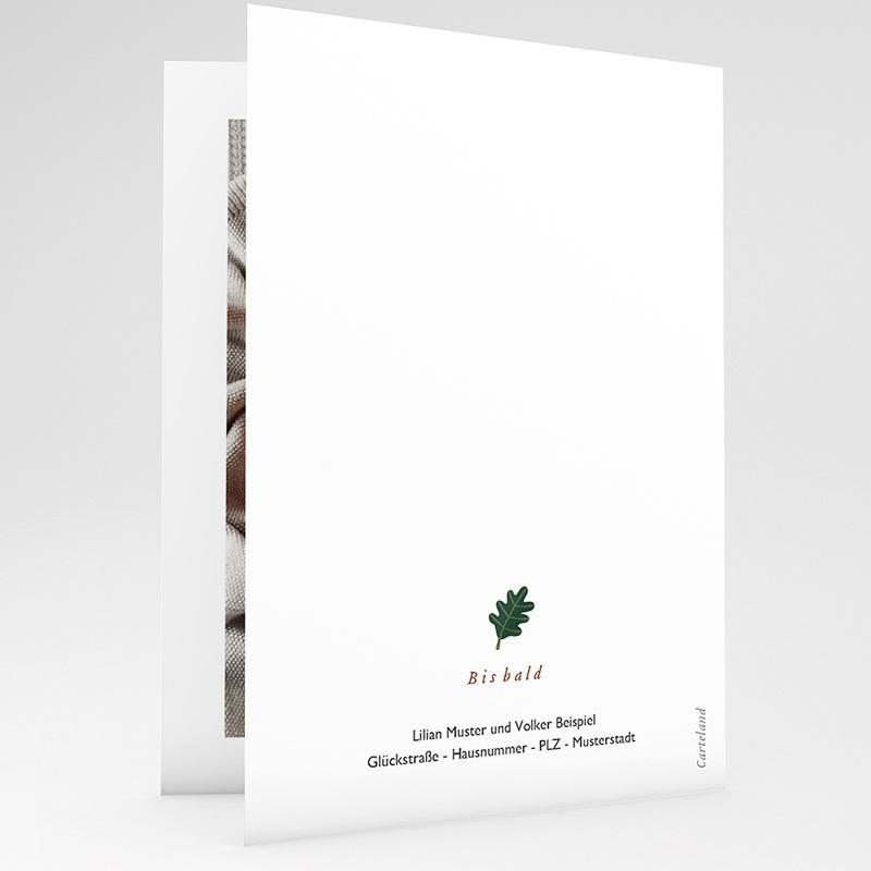 Geburtskarten mit Tieren Mobile im Zauberwald, Foto, Klappkarte gratuit