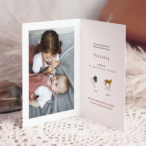 Geburtskarten mit Tieren Mobile Safari, Foto, Klappkarte pas cher