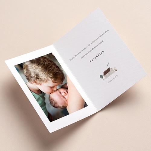 Geburtskarten für Mädchen oder Jungen Haus des Glücks, Klappkarte, 12 x 17 cm pas cher