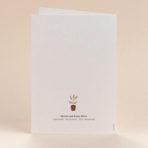 Geburtskarten für Mädchen oder Jungen Haus des Glücks, Klappkarte, 12 x 17 cm