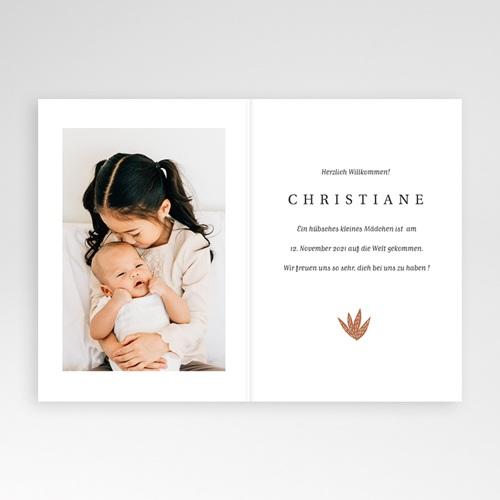Geburtskarten mit Tieren Kleiner Winterbär, Aloe Vera, Klappkarte pas cher