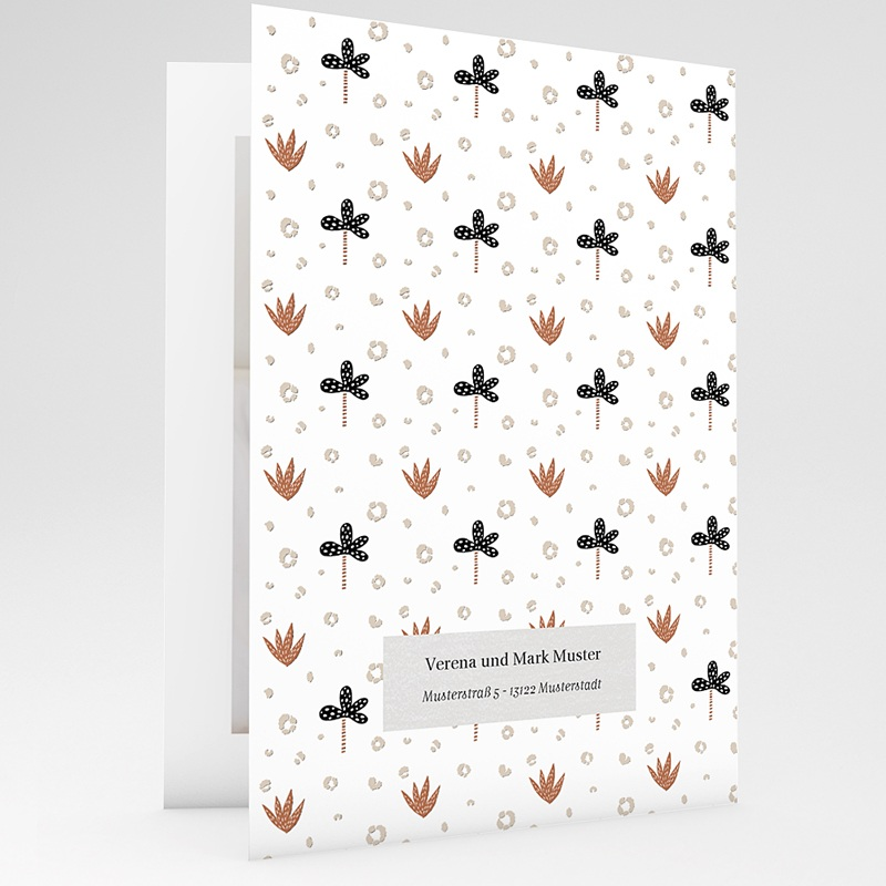 Geburtskarten mit Tieren Kleiner Winterbär, Aloe Vera, Klappkarte gratuit