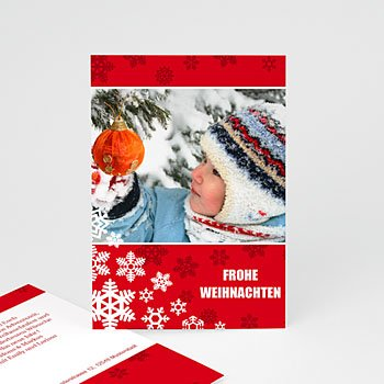 Weihnachtskarten - Weihnachtskarte Schneeflöckchen - 1