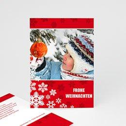 Weihnachtskarte Schneeflöckchen - 1
