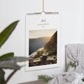 Natürlicher Wandkalender ein Foto pro Monat