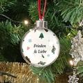 Personalisierte Weihnachtskugel Frieden und Liebe