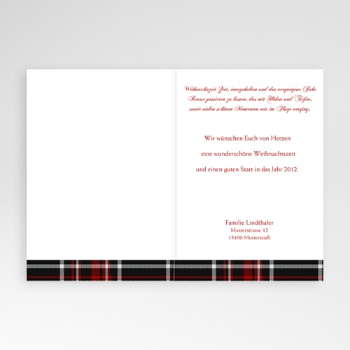 Weihnachtskarten - Stoffmuster 9405 test