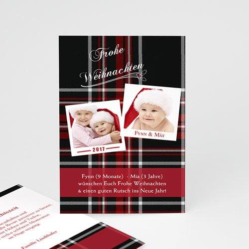 Weihnachtskarten Gewebtes Motiv