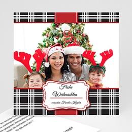 Neujahr Weihnachten Karomuster