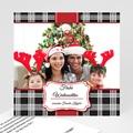 Weihnachtskarte Karomuster - 1