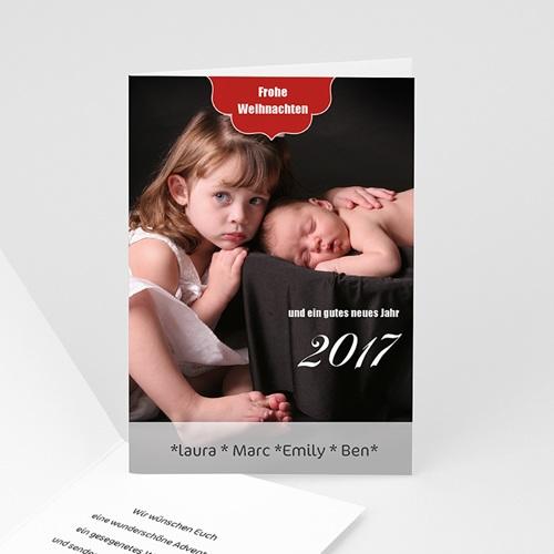 Weihnachtskarten - Rot 9424