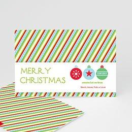 Neujahr Weihnachten Streifendesign